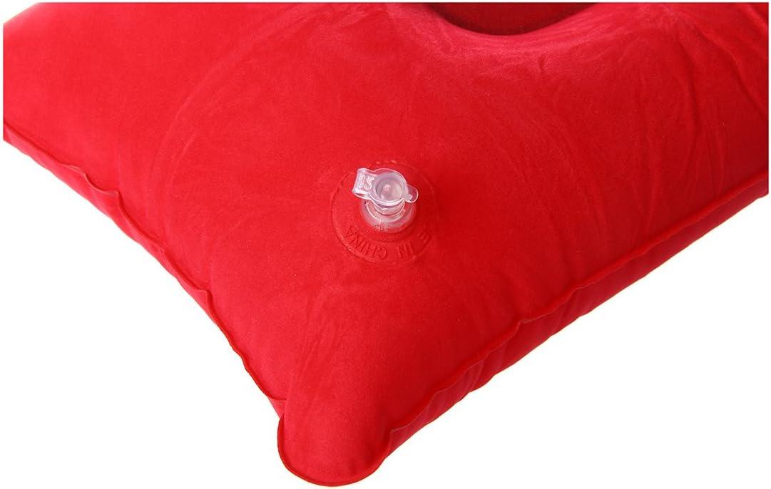 25cm Rojo 40 TOOGOO Almohada inflable Almohadilla de Cara Double inflable Almohada para Camping Picnic