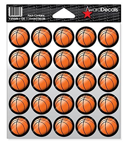 Awardデカールバスケットボールデカール( 100ステッカー) B0169815Q4 Basketballs