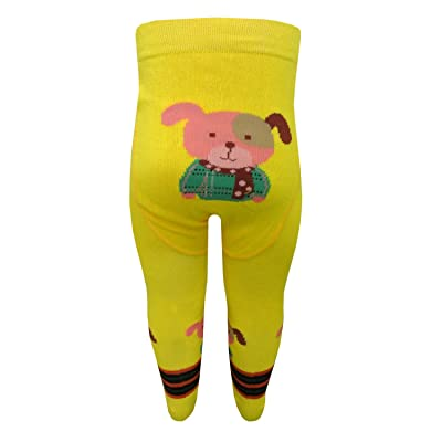 Riese Strümpfe - Bébé Collants motif garçon de chien, jaune