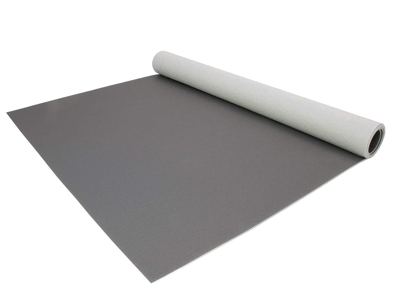 Schwer Entflammbar 2,00m x 6,00m Reflektiert Nicht PVC Bodenbelag EXPOTOP Profi Vinylboden Einfarbig Uni Schwarz PVC Boden Meterware Vinyl