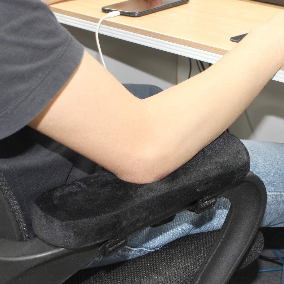 2er Stuhl Armlehne Pad Memory Foam Ellenbogen Kissen Abnehmbare für Rollstuhl