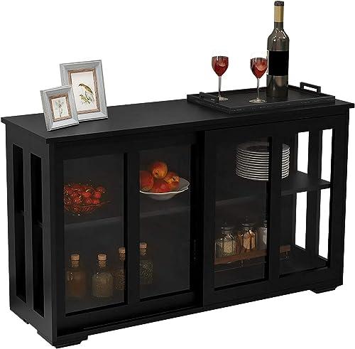 HomVent Kitchen Storage Sideboard Cabinet Buffet Cupboard