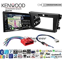 Volunteer Audio Kenwood DNX574S Double Din Radio Install Kit with GPS Navigation Apple CarPlay Android Auto Fits 2010-2012 Mazda CX-7