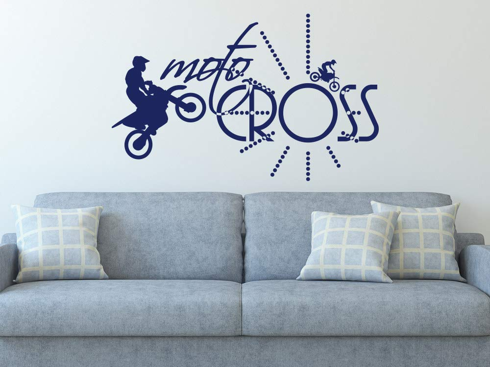 Grazdesign 800089 Si 010 Wandtattoo Uhr Wanduhr Motorradsport