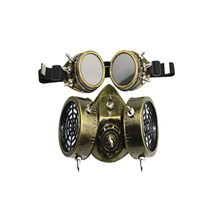 KEHUASHINA Female/Male Goggles Military Fog Haze Steampunk Gas Mask Party Halloween Anime Cosplay Accessories