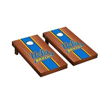 Victory Tailgate Collegiate NCAA Cornhole Board Set Game Rosewood Stripe Version