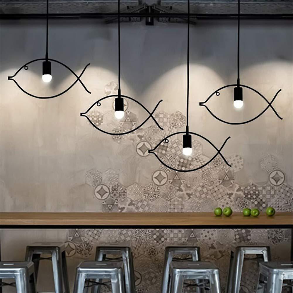 U-Enjoy Kronleuchter 3 Köpfe Lampenrahmen Fashion Style für minimalistische Fisch-Raum Couture AC110   220V Speise E27 Lichter Cafe Bar-Anhänger Kostenloser Versand