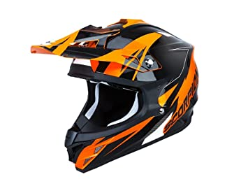 Scorpion Casco Moto VX-15 EVO AIR Krush, Naranja, ...