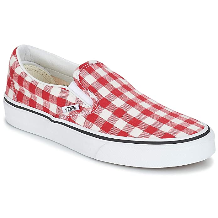 official photos 39b2d 21e47 Vans New 2019 Adult Unisex Classic Slip_ON Gingham Racing RED True F7VDY