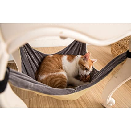 Cat Hammock Bed - Soft Warm and Comfortable Pet Hammock Use with Chair for Kitten,