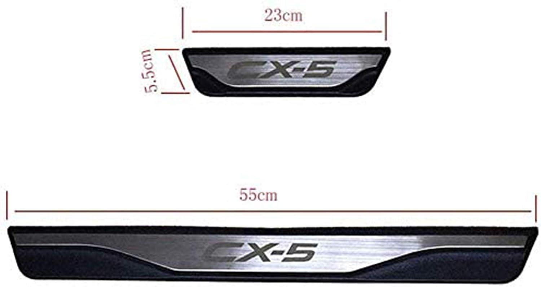 YAVEIL Edelstahl Autot/ürschweller Schaber Trimm Einstiegsleisten Pedalschutz Ger/äteabdeckung T/ürschweller,f/ür Mazda CX5 CX-5 2013 2014 2015 2016,4 St/ück.