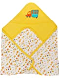 Mee Mee Double Layer Reversible Soft Baby Blanket (with Hood-Yellow)