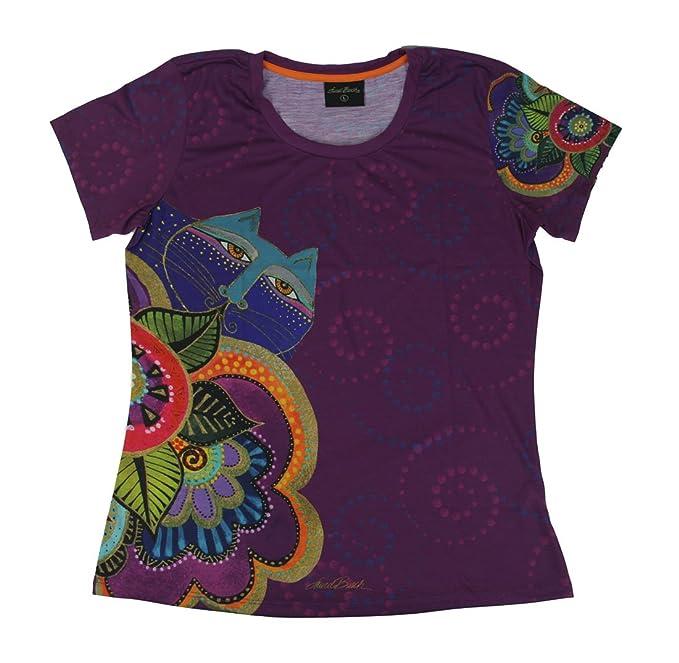 b8d8e0f12 Amazon.com: Laurel Burch Women's Shirt, Carlotta's Cat: Clothing