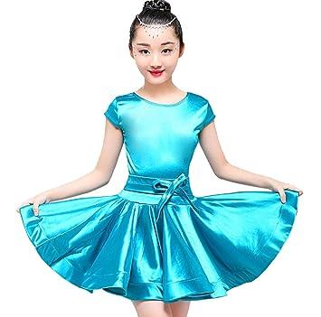 ZYLL Vestido de Baile Latino para Niñas, Trajes de Baile ...