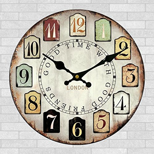 24 inch craft clock high-end craft stylish wall clock-style country wall art clock wall clock 60cm,A-24 inches (Giant Outdoor Wall Clock)