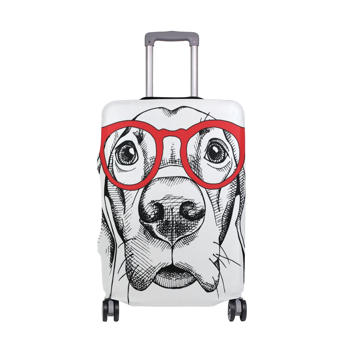 Cute Dog Puppy Love Forever Suitcase Luggage Cover Protector for Travel Kids Men Women