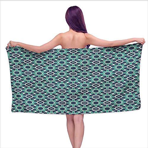Aurauiora Custom Bath Towel Geometric,Ottoman Star Shape,W31 xL63 for Kids