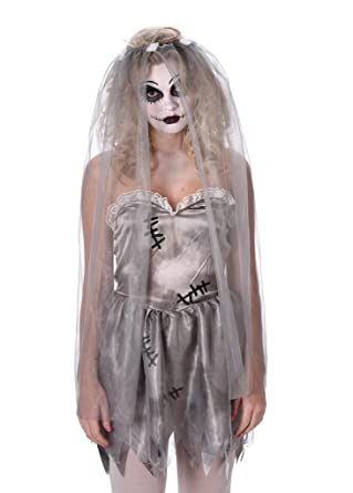 ghost bride costume womens corpse bride dress for halloween and dress up