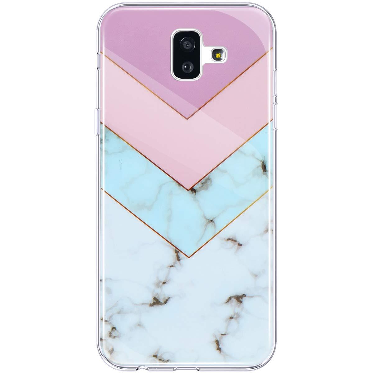 Handyh/ülle Samsung Galaxy J6 Plus Marmor Muster D/ünn Weiche TPU Silikon Transparent Bumper Schale Sto/ßfest Case Cover Tasche Etui Schutzh/ülle Hpory Kompatibel mit Galaxy J6 Plus H/ülle Wei/ß Braun