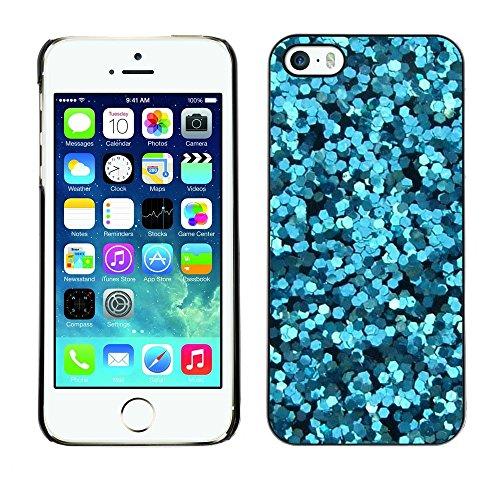 TopCaseStore / caoutchouc Hard Case Housse de protection la Peau - Flowers Abstract Sea Surf Dive - Apple iPhone 5 / 5S