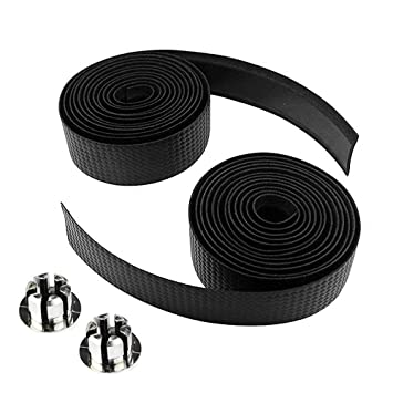 2 Bar Plug black G3 2X Bike Cycling Road Bike Carbon Fiber Handlebar Tape Wrap