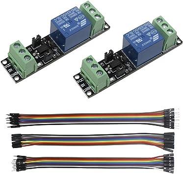 3pcss 20CM 10Pin Macho Hembra Jumper Cables KeeYees 5pcs 1 Canal 5 V M/ódulo de Rel/é Canal Shield KY-019 Indicador LED para Arduino Raspberry Pi PIC AVR DSP ARM