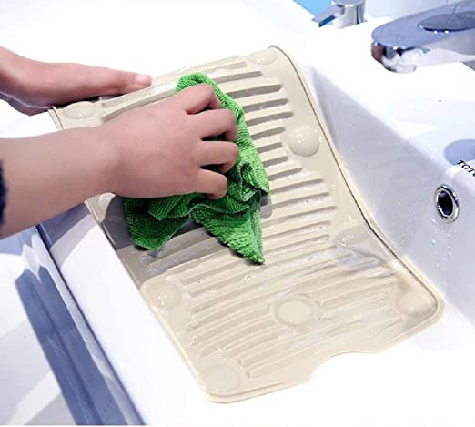 Mazoong - Premium Flexible Washboard, Portable Laundry Washboard for Baby Clothes and Mop, Washing Board, Hand Wash Board, Washboard for Laundry, Small Washboard, Easy Storage