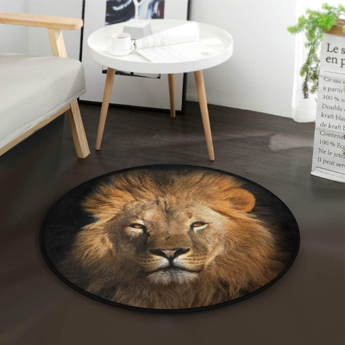 Lion King Cosmic Space Floor Area Rug Home Decor Carpet Crawling Mat Yoga Rug