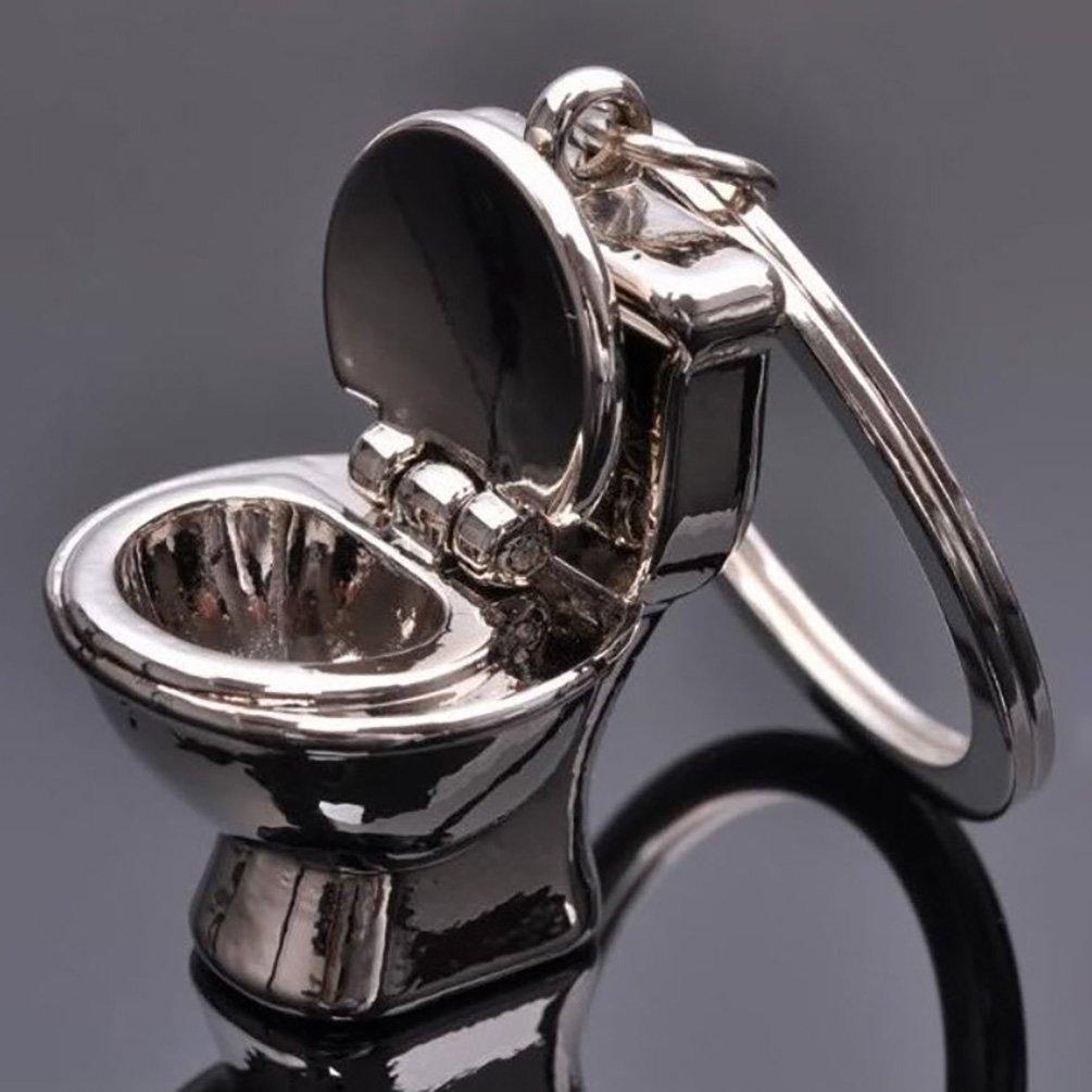 Creative 3D Pendant Toilet Keychain Simulation Mini Keyring Fashion Gift Decor GlobalDeal
