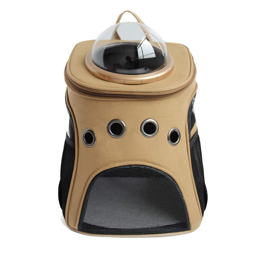 orange Jlxl Pet Backpack Canvas Backpack Out Travel For Portable Cat Bag Dog Space (color   orange)