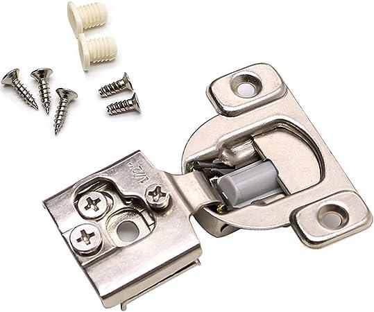 "20 Soft Close 1//2/"" Overlay 3 Way Adjustment Face Frame Nickel Cabinet Hinges"