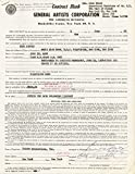 Eddy Arnold - Contract Signed 06/01/1956