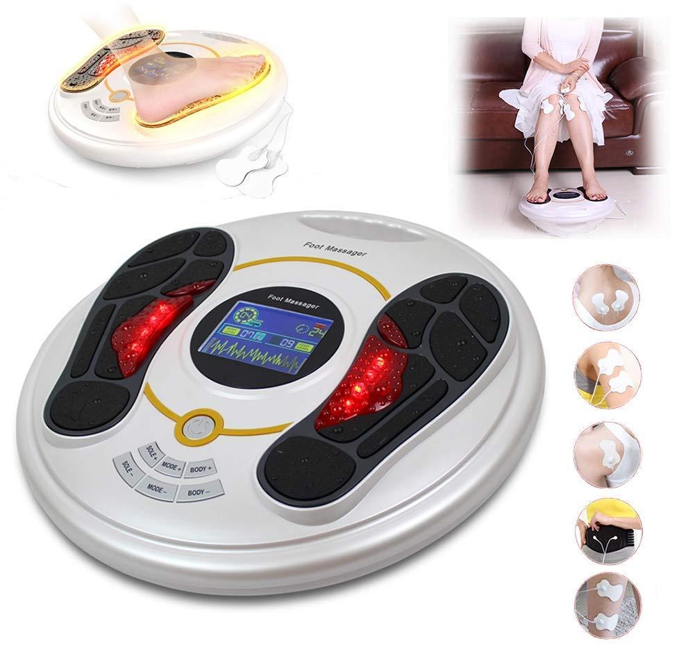 足のマッサージ機、指圧療法を混練した理学療法装置、鍼治療、足のリフレクソロジー、赤外線治療機能、アイデア B07TLM28BX