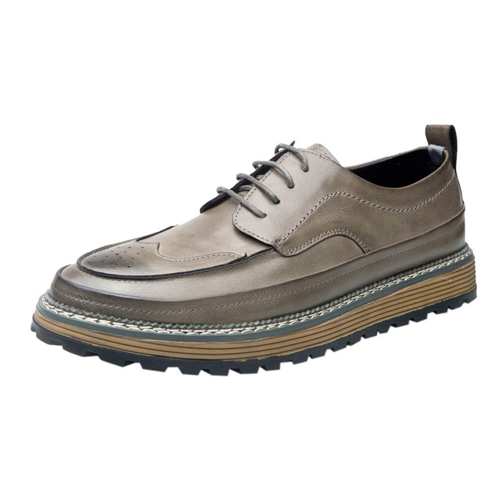 Men's Oxford Sneaker Dress Shoes-Men Business British Vintage Leather Shoes Men Outdoor Casual Summer Shoes Solid Shoes