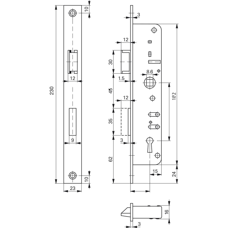 Roto 246815 schmalkasten de candado 851 | Mandril: 20 mm | tosisch sin Cambio: Amazon.es: Bricolaje y herramientas