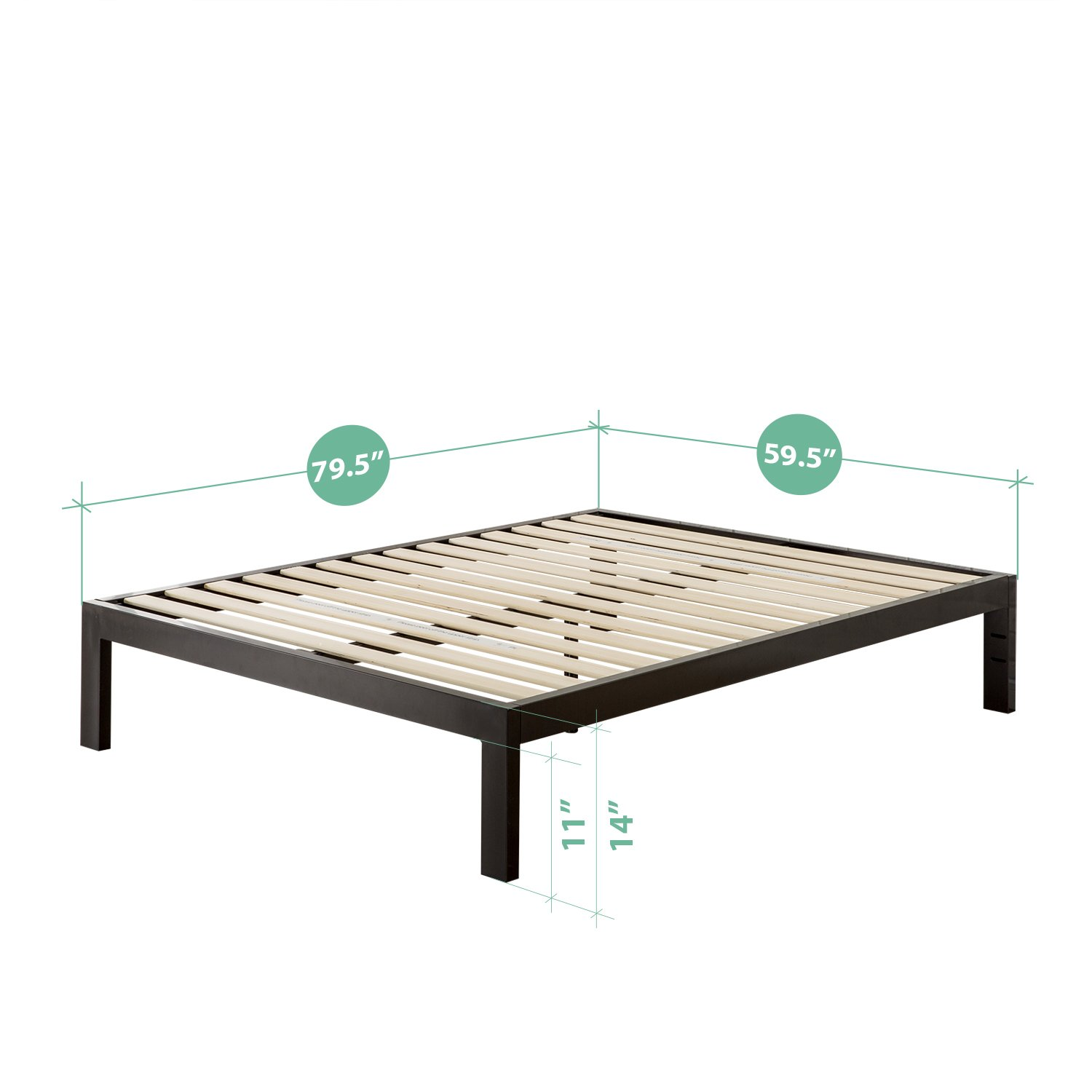 New Amazon Zinus Quick Snap TM Inch Platform Bed Frame Mattress Foundation with Less than Inch Spacing Wooden Slat Support no Bolts or Nuts