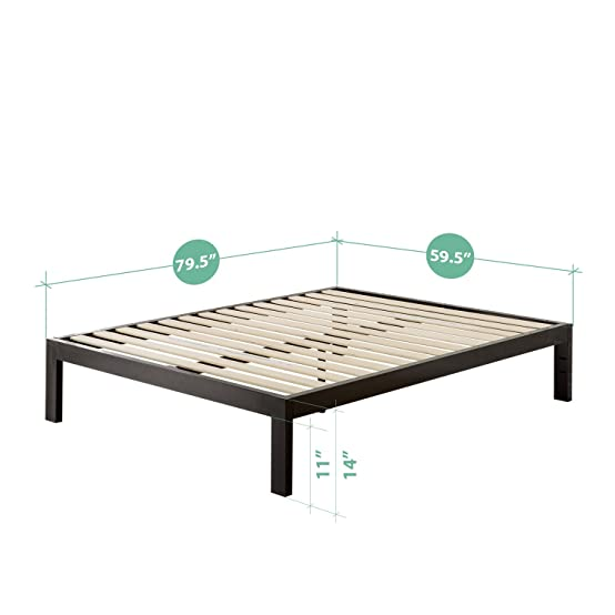 Fancy Amazon Zinus Quick Snap TM Inch Platform Bed Frame Mattress Foundation with Less than Inch Spacing Wooden Slat Support no Bolts or Nuts