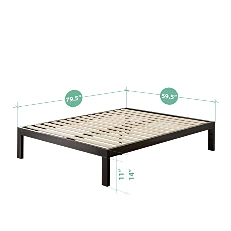Awesome Amazon Zinus Quick Snap TM Inch Platform Bed Frame Mattress Foundation with Less than Inch Spacing Wooden Slat Support no Bolts or Nuts