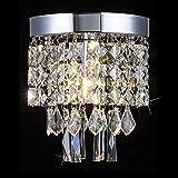 chandelier mounting bracket - Floodoor Crystal Chandelier, Mini Modern Flush Mount Ceiling Light 5.9 Inches Diameter for Hallway, Kitchen, Dining Room, Living Room