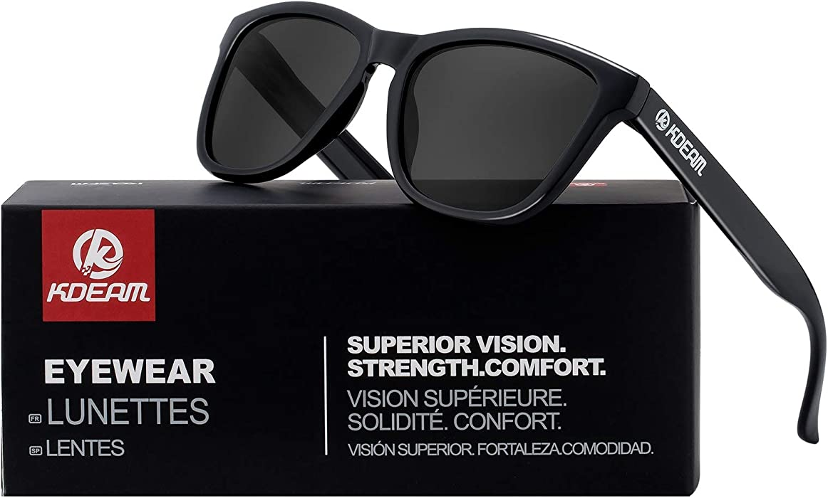 b67d0678ceb K KDEAM Gradient Polarized Sunglasses Square Fashion for Women Men UV400  Mirror C1 Black Grey