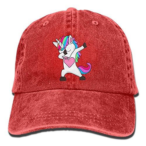 Cute Dabbing Unicorn Dab Hip Hop Funny Magic Denim Hat Men Baseball Hats