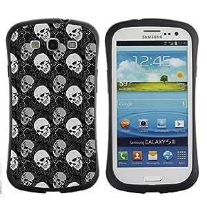 ArtSpace Premium Hybrid Back Case Cover Samsung Galaxy S3 III i9300 ( Dark Skull )