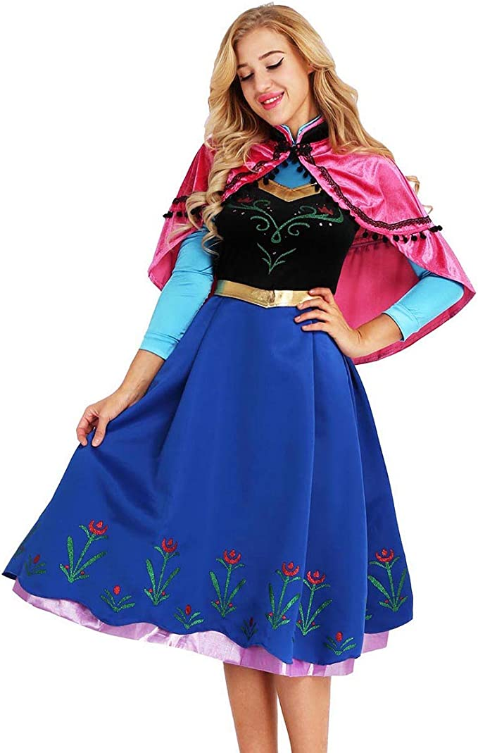 iiniim Disfraz de Princesa Mujer 2Pcs Conjunto de Disfaces para ...