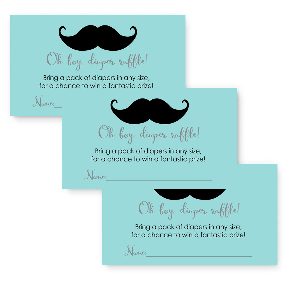 Amazon.com : 50 Mustache Oh Boy! Baby Shower Invitations and ...