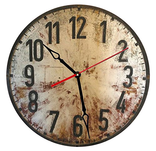 """SofiClock 12"""" Vintage Wall Clock With Arabic Numerals, Best"""
