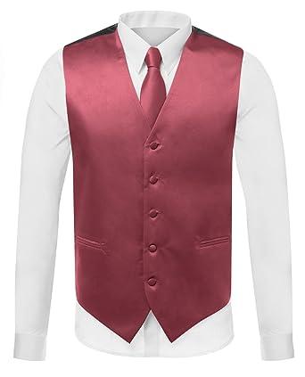916969a9d13f Azzurro Men's Dress Vest Set Neck Tie, Hanky for Suit Or Tuxedo at Amazon  Men's Clothing store: