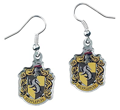 Official Harry Potter Jewellery Hufflepuff Crest Earrings iw2WXZsrkn