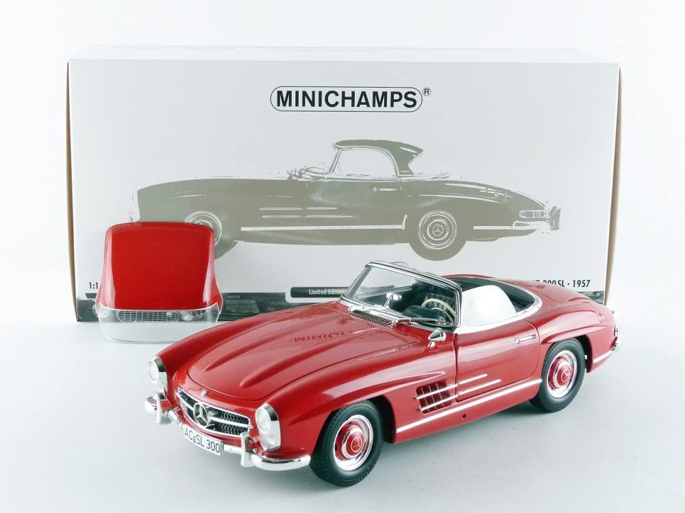 CHROM EDITION DEALER /%/% NEW bei PREMIUM-MO W198 1:18 Minichamps Mercedes 300SL