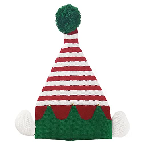 22591641945 Amazon.com  DB-Children hat Christmas Hats Kids Child Boys Girls Beanie  Festival Party Small Bells Knitted Elf Hat  Clothing