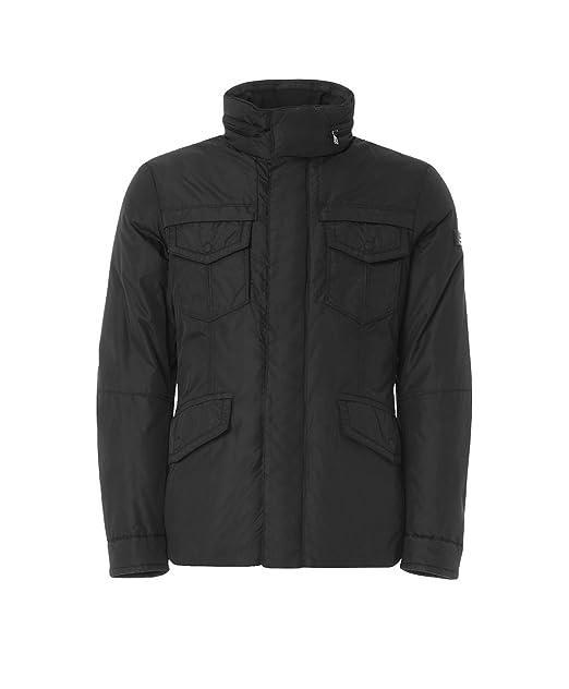 PEUTEREY piumino giubbino giubbotto giacca uomo STRIPES OXF nero M 5cbe7c555cf